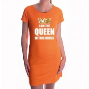 Bellatio Decorations Koningsdag jurk oranje I am the queen in this house voor dames