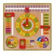 Joc educativ Montessori- Ceas din lemn cu calendar
