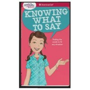A Smart Girl's Guide: Knowing What to Say: Finding the Words to Fit Any Situation, Paperback/Patti Kelley Criswell