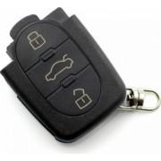 Accesoriu carcasa cheie 3 butoane fara buton panica cu baterie 2032 Audi negru