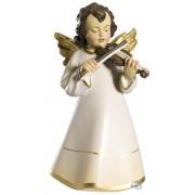 Angelo celeste con violino in legno 12 cm color