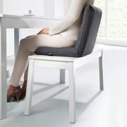 Bullfrog® Bankkissen, gepolstertes Sitzkissen, stützende Rückenlehne, Kissen für Küchen- und Esszimmerbänke, verstellbar, Mikrofaserbezug, Anthrazit