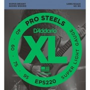 D'Addario EPS220 ProSteels Bass Guitar Strings Super Light 40-95 Long Scale