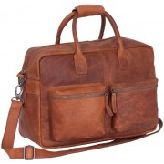 Chesterfield Leren 15 inch Laptoptas William Wax Pull Up Cognac