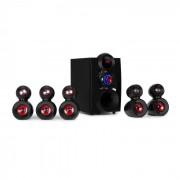 Auna X-Gaming Sistema de altavoces 5.1 Sonido envolvente 380 W máx. Subwoofer OneSide Bluetooth USB SD (MM-5.1-HBK3)