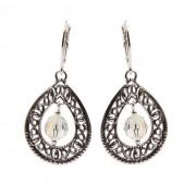 Kolczyki srebrne z kryształami Swarovskiego K 1122 : Kolor - Crystal AB