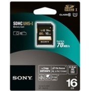 Sony 16 GB SDHC Class 10 70 MB/s Memory Card