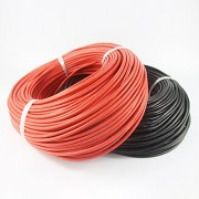 Generic 10AWG : 2meter Red+2meter Black Silicon Wire 8/10/12/14/16/18/ 20/22/24AWG Heatproof Soft Silicone Silica Gel Wire Cable
