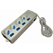 Multipresa elettrica 4 posti con 5 interruttori