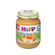 HIPP Piure de fructe cu banane, piersici si mere 125 g, de la 4 luni