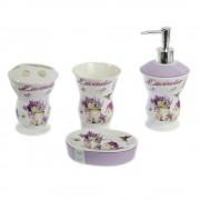 Set elegant din ceramica baie cu 4 produse design lavanda