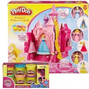 Play-Doh Prettiest Disney Princess Castle and Bonus Set of Sparkle Compound (six 2 oz containers)