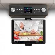 Auna Connect Soundchef Radio de cuisineDAB+ FM + support de tablette - noyer