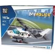 Joc constructie Blocki, Elicopter politie, 102 piese