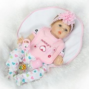 """NPK Collection 22""""/55cm New Realistic Smile Real Looking Reborn Baby Dolls Lifelike Soft Silicone Vinyl Realistic Newborn Doll Child Growth Partner Free Magnet Pacifier For Xmas Present"""