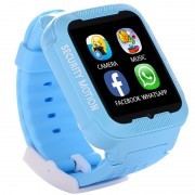 Ceas GPS Copii iUni Kid3, Telefon incorporat, Touchscreen 1.54 inch, Bluetooth, Notificari, Camera, Albastru