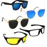 Vitoria Spectacle , Wrap-around, Wayfarer, Butterfly Sunglasses(Multicolor)
