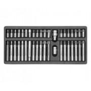 Zestaw bitów torx, hex, spline 40 cz. YT-0400