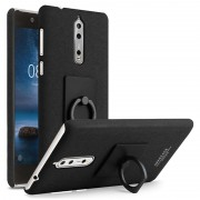 Nokia 8 Imak Ring Case with Screen Protector - Black