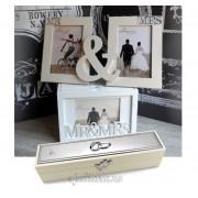 Album foto de nunta rama dubla suport certificat pentru miri
