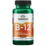 Swanson Vitamín B12 500 mcg 250 kapslí - 250 kapslí