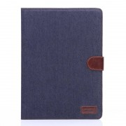 Javu - iPad Air 2 Hoes - Wallet Cover Jeans Donker Blauw