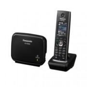 """Безжичен телефон Panasonic KX-TGP600, 1.8""""(4.57 cm) LCD дисплей, черен"""