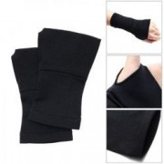 Set 2 mansete protectie incheietura bandaj elastic cu deget compresie marimea L negru FMD204