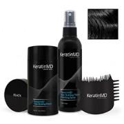 KeratinMD HAIR BUILDING FIBERS (Black) VALUE PACK
