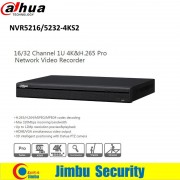 Dahua P2P NVR Video Recorder 16CH 32CH NVR5216-4KS2 NVR5232-4KS2 support 4K H.265 Up to 12Mp resolution preview&playback