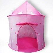 Play Tent | Princess Toys | Girls Tents For Kids | Princess Castle | Indoor Popup Bedroom Playroom Toddler Imagination Fun | Glow In The Dark Stars | Toddler Children Toy Furniture by Kids Palace