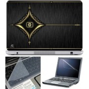 Finearts Laptop Skin - Hp Antique Design With Screen Guard And Key Protector - Size 15.6 Inch