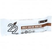22 Days Nutrition Organic Protein Bar - Daily Mocha Mantra - Case of 12 - 1.7 oz Bars