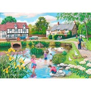 """The House of Puzzles Big 250 Piece Jigsaw Puzzle – Duck Pond """"New February 2017â€"""