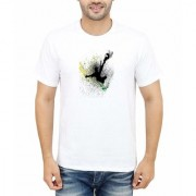 DOUBLE F ROUND NECK HALF SLEEVE WHITE COLOR FLYING COLORS PRINTED T-SHIRTS