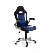 Fotel biurowy RACER SPORT czarno - niebieski