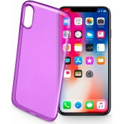 Cellular Line Colorciph8v Cover Custodia In Gomma Per Apple Iphone X Colore Viola - Colorciphxv