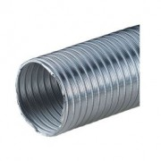 Félmerev aluminium cső NA100/1m