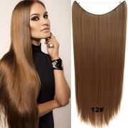 Flip in vlasy - 60 cm dlouhý pás vlasů - odstín 12 - Světové Zboží