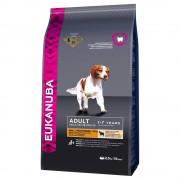 Eukanuba Pack de experimentação: Eukanuba 2 a 3 kg - Adult Medium Breed com frango 3 kg