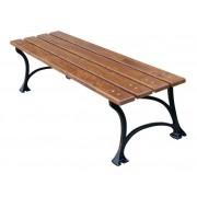 Parková lavice 180 cm bez opěrky, litina, olše, lakovaná - 180
