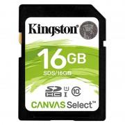 Cartão de Memória SDHC Kingston Canvas Select UHS-I SDS/16GB - 16GB