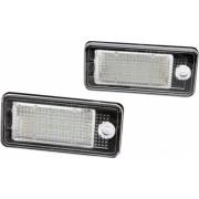 Set 2 Lampi Led Dedicate Numar Inmatriculare Audi A3 A4 A5 A6 A8 Q7