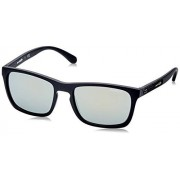 Arnette AN4236 Burnside anteojos de sol rectangulares para hombre, mate, Espejo de oro negro y verde mate., 56 mm