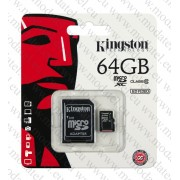 Micro SDHC card + Adapter (64GB class10) Kingston