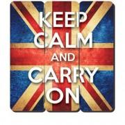 Placa Decorativa em MDF Ripado Keep Calm