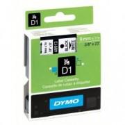 Dymo D1 40913 / S0720680 Svart text / vit tejp 9 mm x 7 m tape - Original