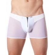 Lookme Cube Zipper Mesh Boxer Brief Underwear White 813-67