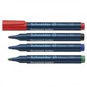 Marker permanent Schneider Maxx 130, varf rotund 1-3mm verde