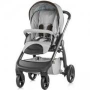 Детска комбинирана количка Аура 3 в 1, Chipolino, сива перла лен меланж, 3500033